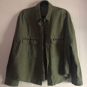 Zara boho utility crop jacket